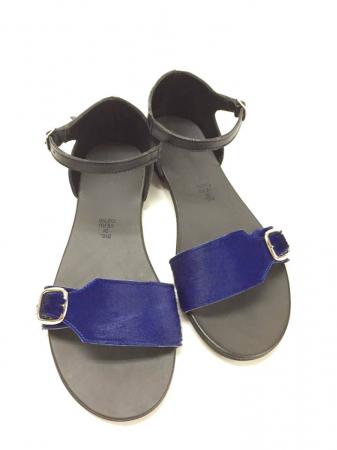 Sandale de dama din piele Ada Pony Blue0
