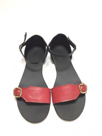 Sandale de dama din piele Ada Red0