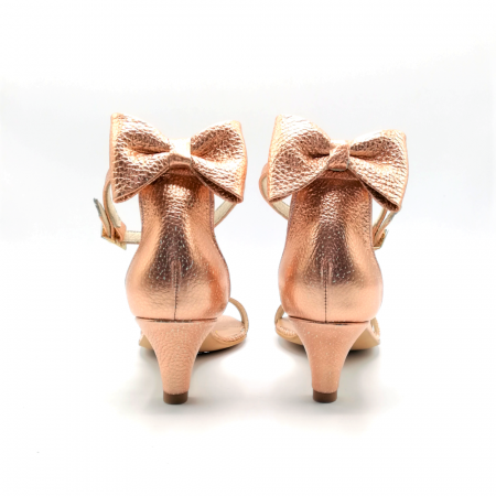 Sandale dama cu toc jos Copper Bow din piele naturala1