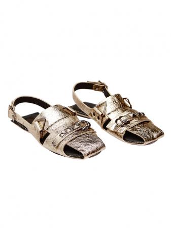 Sandale dama din piele naturala aurie Sophie2