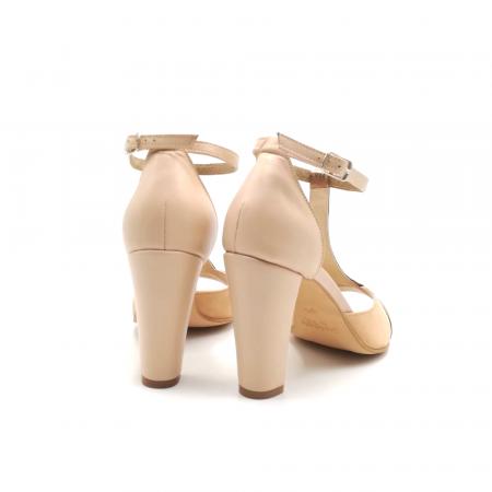Sandale dama din piele naturala cu toc gros Nude Copper3