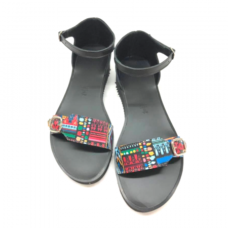 Sandale dama din piele Traditional Pattern Ada cu platforma2