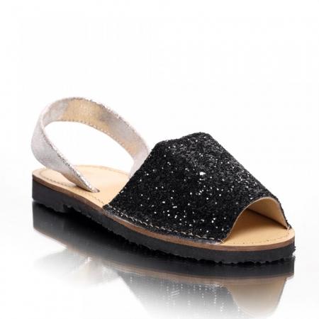 Sandale dama tip Avarca Glitter Negru