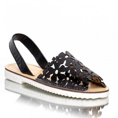 Sandale dama tip Avarca Negru Perforat
