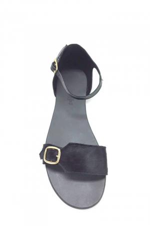 Sandale de dama din piele Ada Pony Black2