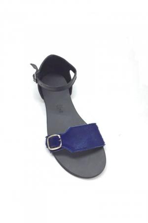 Sandale de dama din piele Ada Pony Blue1
