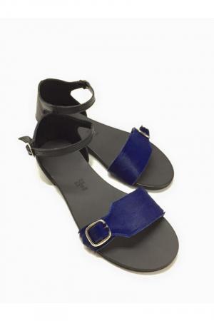 Sandale de dama din piele Ada Pony Blue3