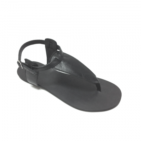 Sandale de dama din piele Black Leather0