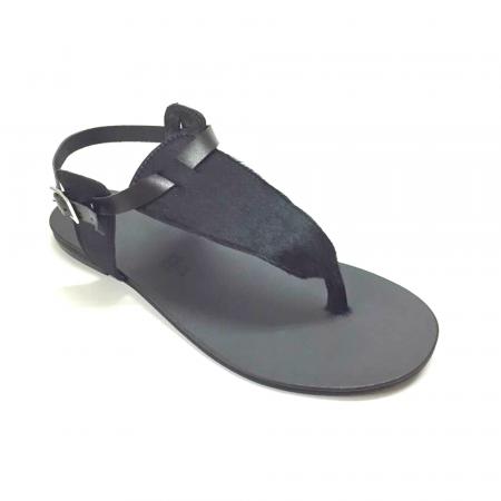 Sandale de dama din piele Black Pony [1]