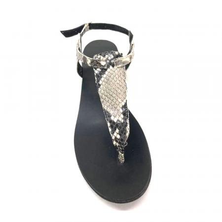 Sandale de dama din piele naturala Snake Print3