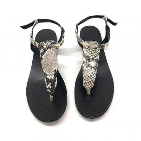Sandale de dama din piele naturala Snake Print, 38 [0]