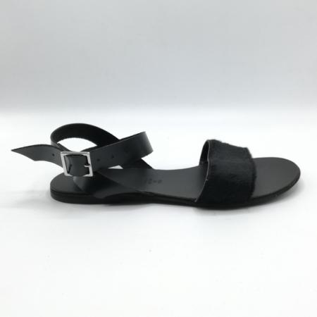 Sandale de dama din piele Black Pony, 37