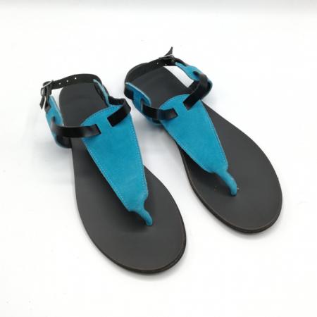 Sandale de dama din piele Turquoise Zaza, 37