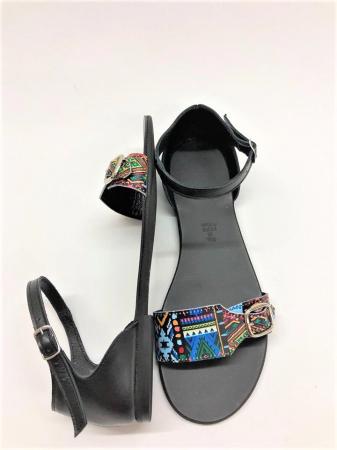 Sandale dama din piele Traditional Pattern Ada2