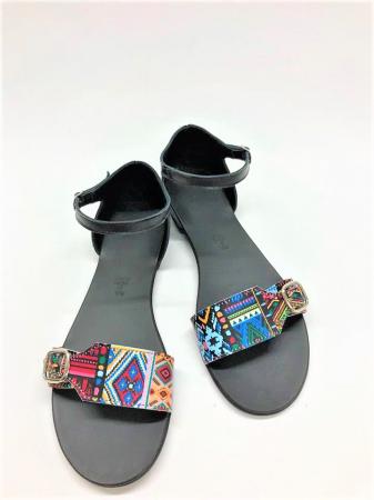 Sandale dama din piele Traditional Pattern Ada0