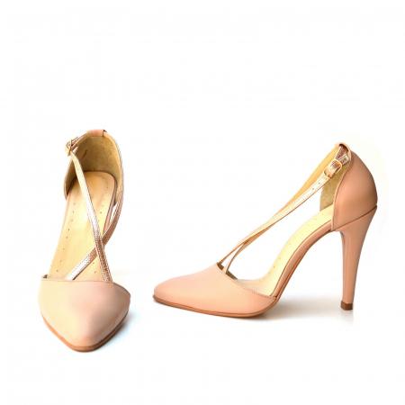 Pantofi stilleto din piele cu barete incrucisate3