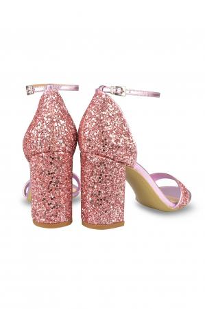 Sandale Mihai Albu din piele Pink Glitter2