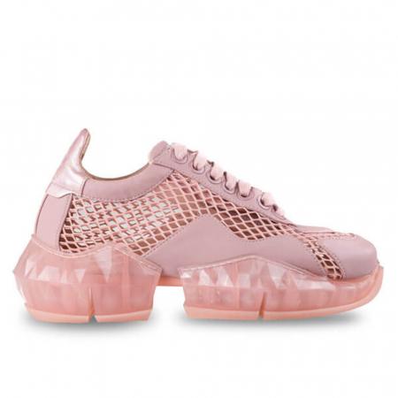 Sneakersi Mihai Albu Pink Diamond din piele naturala0