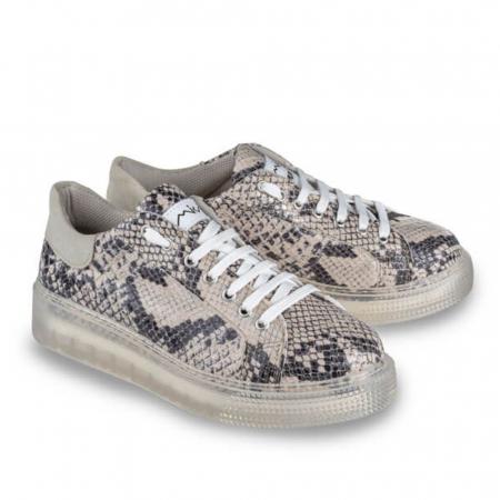 Sneakersi Mihai Albu Python din piele naturala1