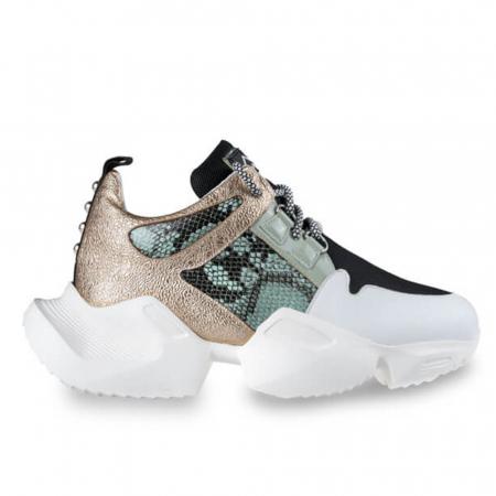 Sneakersi Mihai Albu Wild Green din piele naturala0
