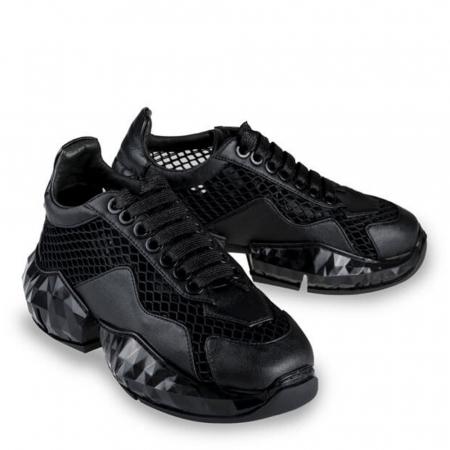 Sneakersi Mihai Albu Black Diamond din piele naturala, 371