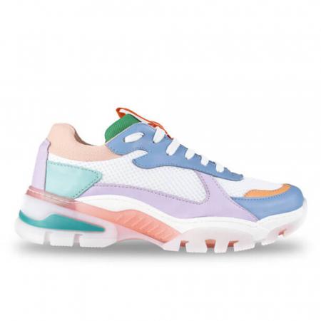 Sneakersi Mihai Albu Rainbow din piele naturala0