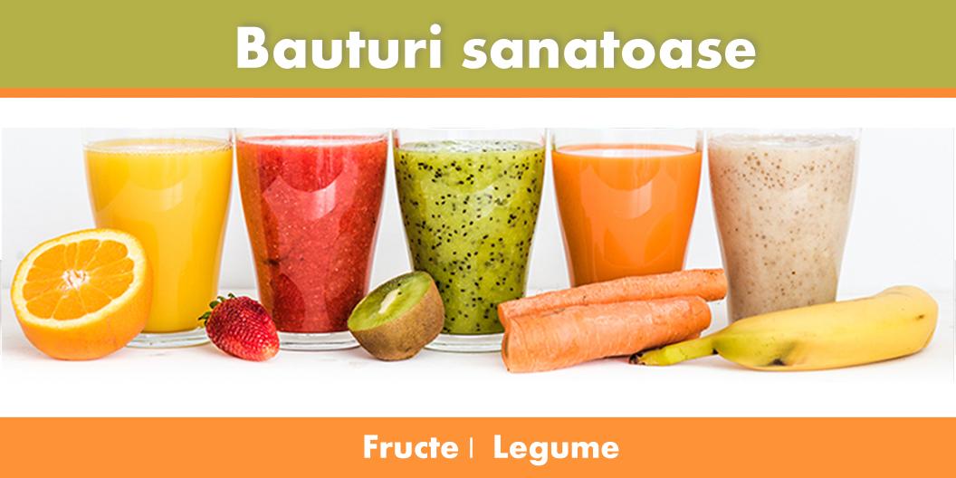 Bauturi sanatoase din fructe si legume