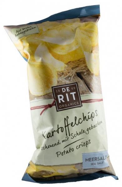 De Rit – Chipsuri bio de cartofi cu sare de mare, 125 gr 0