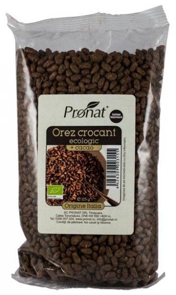 Orez expandat crocant cu cacao,125g, Bio 0