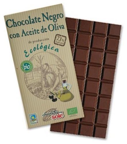 Ciocolata neagra BIO cu ulei extravirgin de masline, Chocolates Sole, 100 g 0