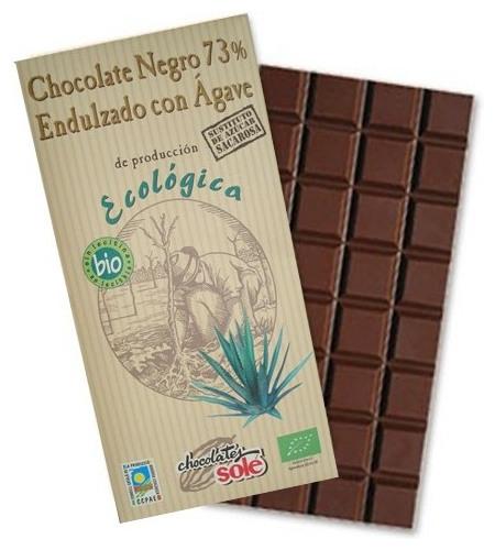 Ciocolata neagra BIO cu sirop de Agave, 73% cacao, Chocolates Sole 100 g 0