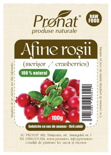 Afine rosii deshidratate 100gr 0