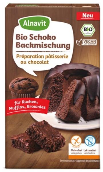 Amestec de copt pentru prajituri, cu ciocolata, fara gluten Bio, ,  400g