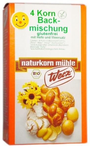 Amestec Bio de faina din 4 cereale integrale, cu drojdie, fara gluten 500 g 0