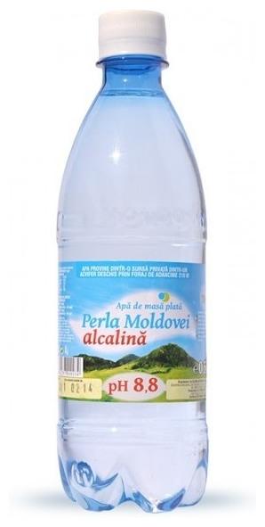 Apa de masa Perla Moldovei natural alcalina, pH 8.8,  0,5 l 0