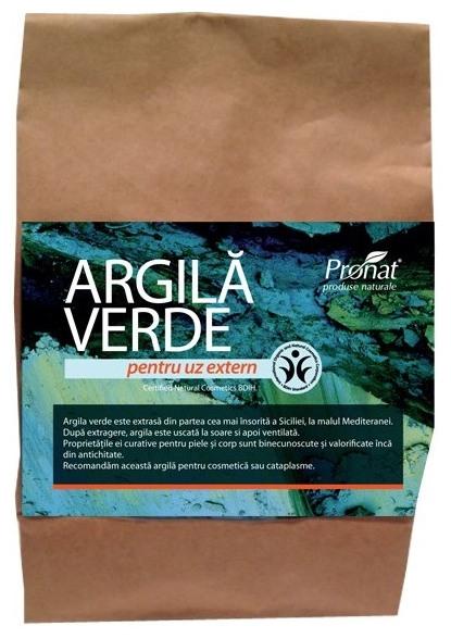 Argila verde fina, pentru uz extern, 500 gr 0