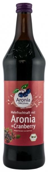 Aronia Original – Suc BIO de aronia cu suc de merișoare, 0,7l 0