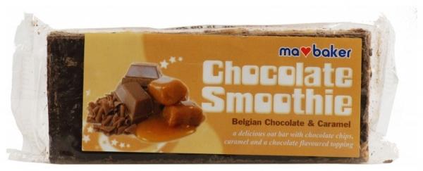 Baton din ovaz cu ciocolata belgiana si caramel 100g Ma Baker 0