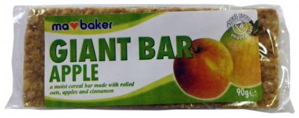 Baton din ovaz cu mere si scortisoara Ma Baker 90 g 0