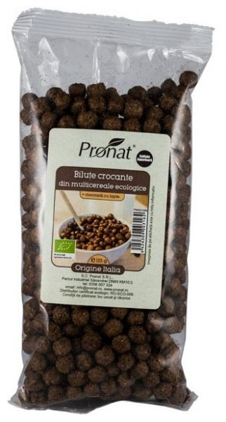 Bilute crocante din multicereale BIO + ciocolata cu lapte, 125 g
