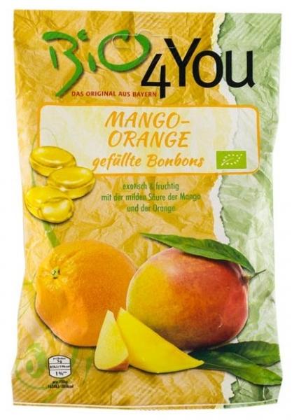 Dropsuri bio cu mango si portocale 75gr 0