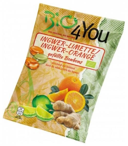 Dropsuri BIO din ghimbir-lime si ghimbir-portocale, 75 g 0