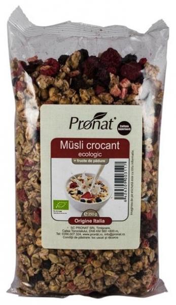 .Bio Musli crocant cu fructe de padure  250g 0
