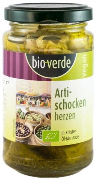 Bio Verde - Inimi Bio de anghinare, marinate in ulei si verdeturi, 200g [0]