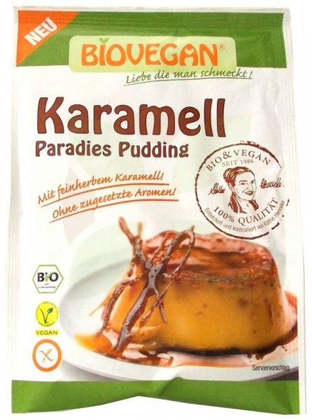 Budinca Bio de caramel, 43 g 0