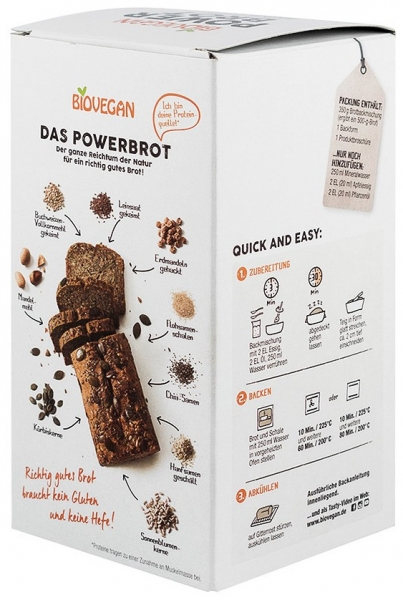 Premix bio pentru paine Power, fara gluten, 350g 1