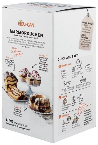 Premix pentru prăjitură bio marmorata cu roscove, 380g 1
