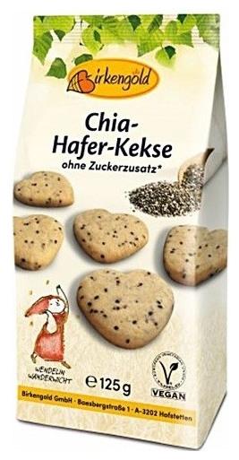 Biscuiti BIO din Ovaz cu seminte de CHIA si zahar de mesteacan 125 gr 0