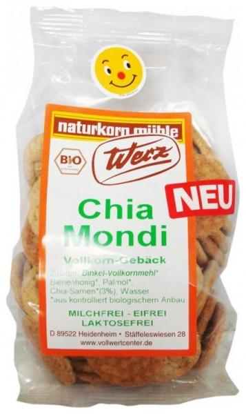 Biscuiti Bio crocanti din faina integrala de alac cu seminte de chia, 125 g