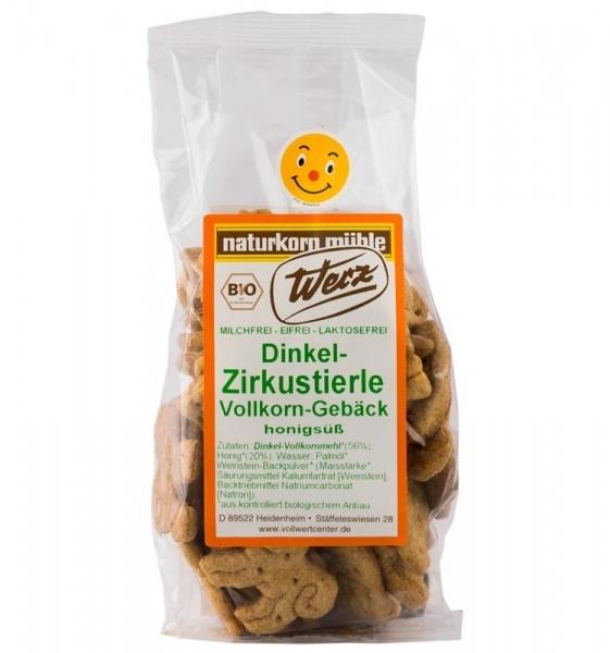 Biscuiti Bio Zoo din alac cu miere, 125 g 0